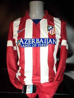 Atletico Madrid long sleeved player issue home shirt 2013-14 nike BNWT