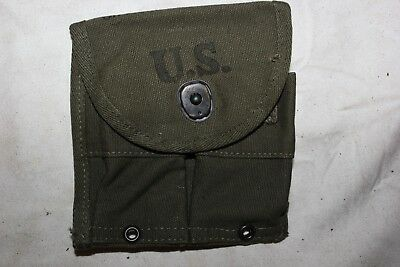 US Military Issue WW2 M1 Carbine Magazine Pouch GEORGE S RUMLEY CO. 1945