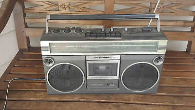 Vintage Realistic SCR-3 stereo boombox ghettoblaster, works, READ description