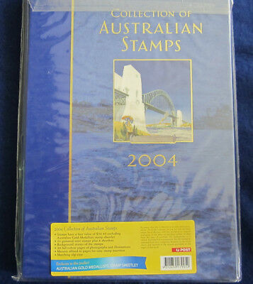 2004 Collection of Australian Stamps Year book with mint stamps