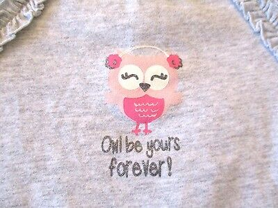 Jumping Beans 6 months Gray Owl by yours forever Long Sleeved Bodysuit New