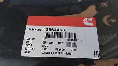 3864458 GENUINE Cummins Filter Head Gasket