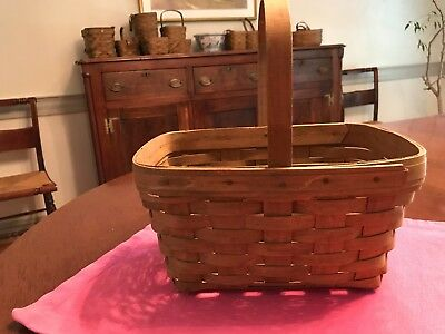 Vintage Longaberger Small Market Basket, 1984, signed, collectible, Very good