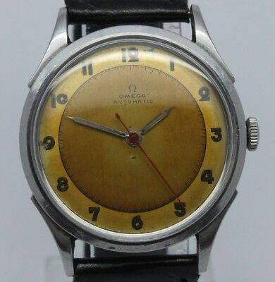 VINTAGE 1940's Omega Mens Steel 33mm Bumper Automatic Watch ref.2420 28.10RASCPC