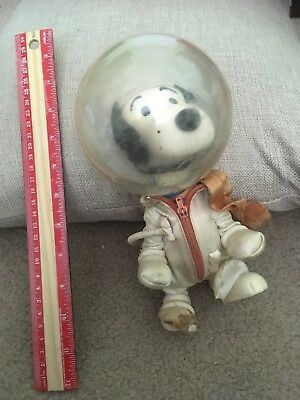 "Vintage 1969 Snoopy Astronaut NASA Flight Safety 7"" Doll  Peanuts United Feature"