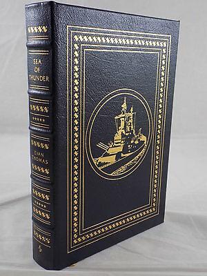 THE EASTON PRESS -  SEA OF THUNDER Leather Bound Like New