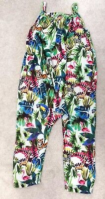 Girls NEXT Jumpsuit Romper Outfit Age 5-6 Years Jungle Print