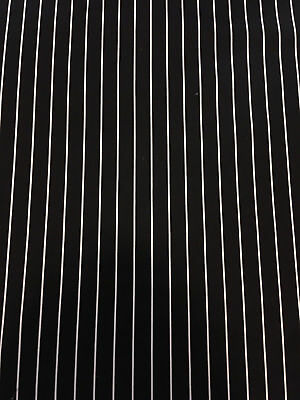 Cotton Duck Black And White Stripe Fabric By The Yard