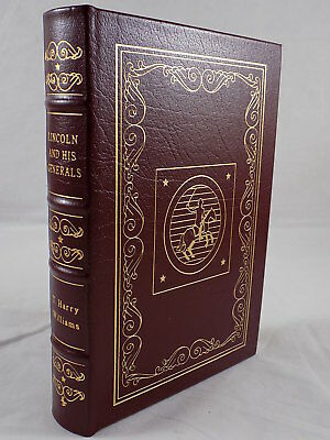 THE EASTON PRESS - LINCOLN AND HIS GENERALS T. Harry Williams Leather Bound LN!