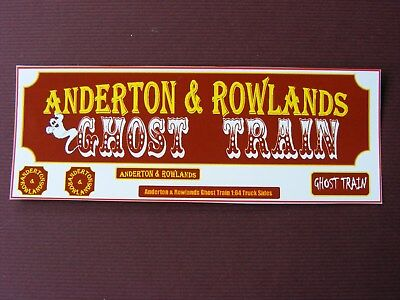 Anderton & Rowlands Ghost Train 1:64 Lorry Side Conversion Sticker Set