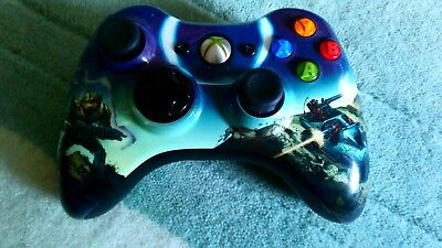 Xbox 360 official Wireless pad Halo 3 Spartan  Edt. [Microsoft] great condition