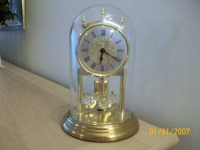 A Vintage Anniversary Clock  Kundo  Quartz Working Made In  Germany With Dome