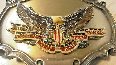 The Right To Keep And Bear Arms Eagle Belt Buckle 1978 Raintree