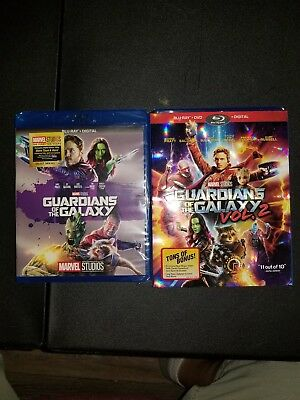 Guardians of the Galaxy 1 and 2 Blu-Ray plus digital