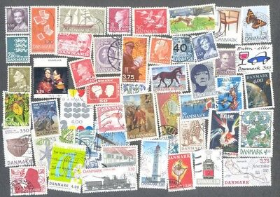 Denmark-500 all different stamps collection-inc. thematics