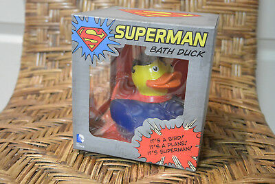 Superman Bath Duck Super Hero Rubber Ducky Duckie Toy Baby Boy Power Shower Gift