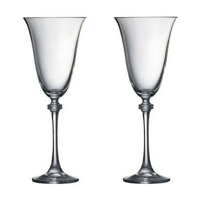 Galway Crystal Liberty Goblet Wine Glasses 4 Set