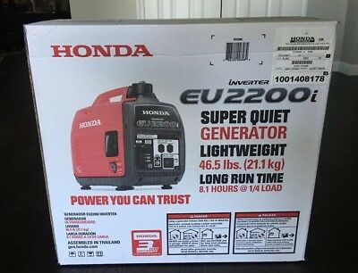 **BRAND NEW** Honda EU2200i 2200W 120V Super Quiet Portable Inverter Generator