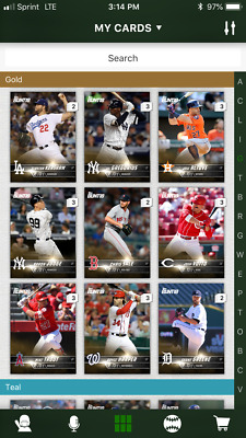 18 Topps BUNT [Digital Card] SERIES 1 GOLD BASE Singles 2x Boost ALL Singles $1