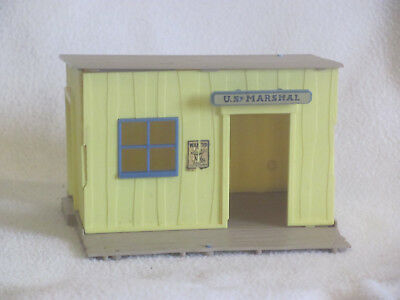 TIMPO Wild West cowboy town U S MARSHAL's OFFICE plastic vintage 1970's 1/32nd