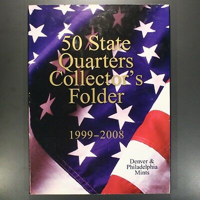 1999-2008 P+D 100 Coin State Quarter Set / 50 State Quarters Collector's Folder