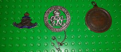 Silver WWI Badge For King and Empire Services+lifesaving medal+ r a enamel badge