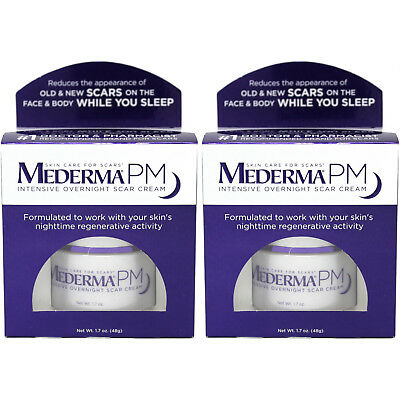 2 Pack Mederma PM Intensive First and only Overnight Scar Cream 1.7oz Each