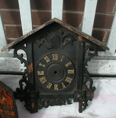 Antique Cuckoo Clock Spares Also Other Clocks