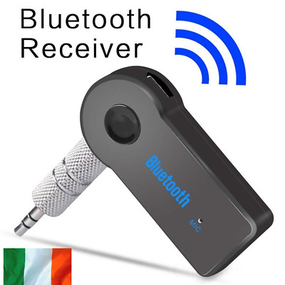 Bluetooth Receiver Adapter 3.5mm Jack Car Home Music Audio Aux Stereo Receiver