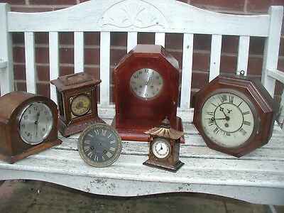 Antique Clocks Inc American French Movement All For Spares Or Repair