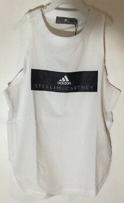 a406e2b49ea7c Adidas by Stella McCartney Womens Logo White Tank Top Black Size Extra  Small XS