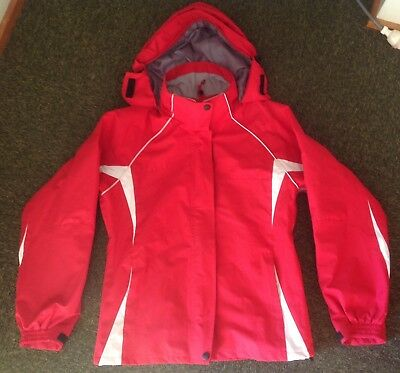 Columbia Titanium size L red High Performance hooded waterproof jacket in VGC