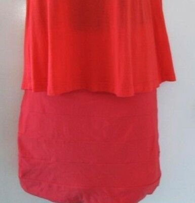Kookai Bandage Skirt Size 1 Stretchy Watermelon double thickness