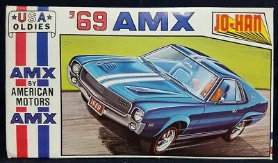 Jo-Han 1/25 #C-4369 1969 AMX BY AMERICAN MOTORS Model Kit!