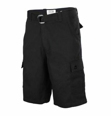 One Tough Brand Mens CLASSIC CARGO SHORTS Belted Cotton 30-40