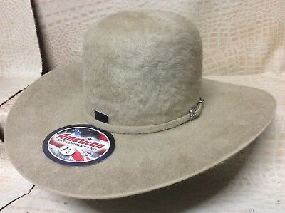 dcc47076f97c7 American Hat Co. Grizzly 20X Long Hair Beaver Fur Felt Cowboy Hat Western  Rodeo