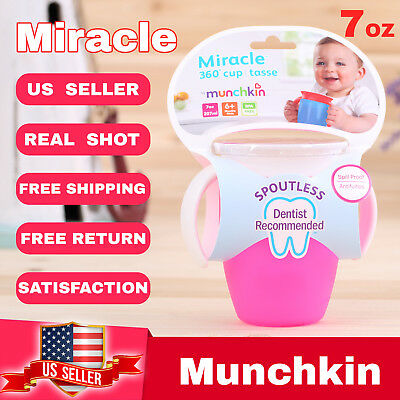 Munchkin Miracle 360° sippy cup tasse children baby Cup 7oz  Pink