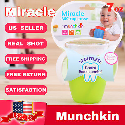 Munchkin Miracle 360° sippy cup tasse children baby Cup 7oz  Green