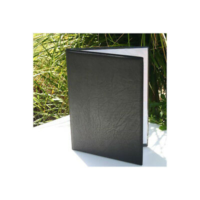9 ONLY Black A4 menu cover faux leather