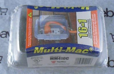 MULTI-MAC 16 in 1 WEATHERPROOF DUPLEX OUTLET COVER BOX  MM410C-B  / BRAND NEW