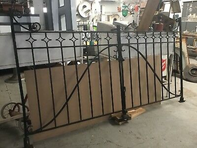 Wrought Iron Gates Antique Pair