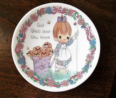 Vintage GOD BLESS YOUR NEW HOME Precious Moments Plate to Personalize 1992
