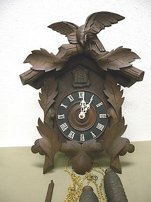 Antique c.1905 American Cuckoo Co. Philadelphia Clock Eagle Crest RESTORED!