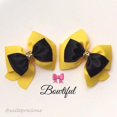 Emma Wiggle pair hair bows alligator clips cosplay/party/show/props/gift/nonslip