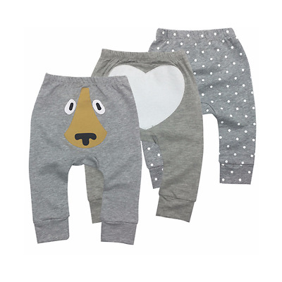 100% Cotton Baby Pants Unisex Boy Outfits Printer Designs Size 6M-2Y Cozy Soft 3