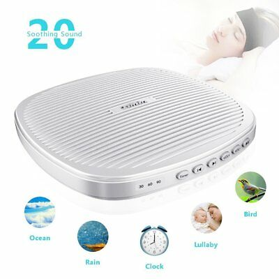 White Noise Machine, TIMIN Portable Sleep Therapy Sound Machine with Timer and -