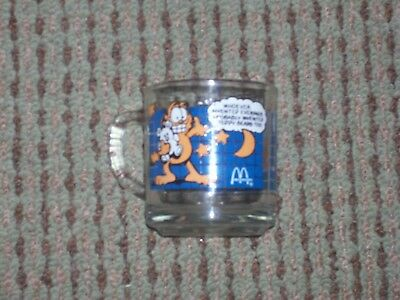 McDonald's Garfield Glass Mug I'd Like Mornings Better Whoever Invented Evenings