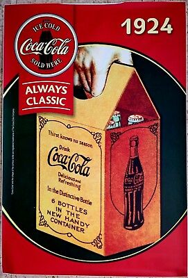 Original Coca Cola Huge Bus Shelter Poster Food Advertising Israel 4X6 Ft