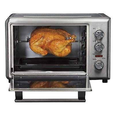 Pizza Oven Steel Commercial Concession Electric W/ Rotisserie
