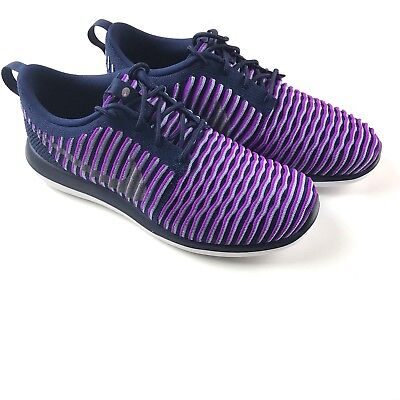 9e84fc9078 ... top quality girls nike roshe two flyknit shoes size 7y purple metallic  silver 844620 500 81d4a
